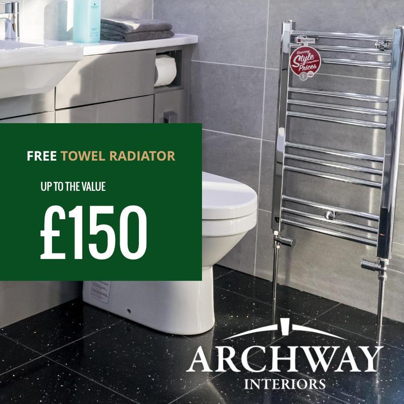 Free Towel Radiator Promotion April 2018| Archway Interiors Ltd